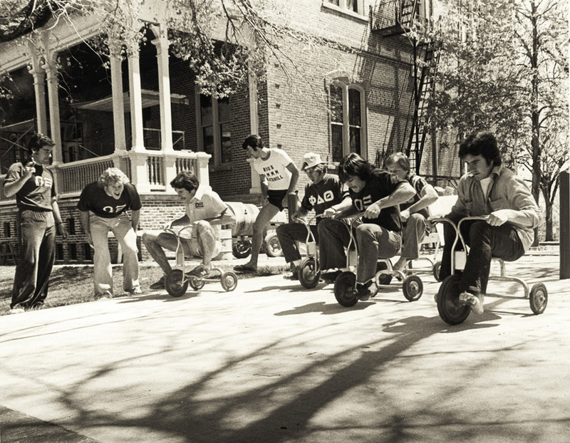 Tricycle race, 1979