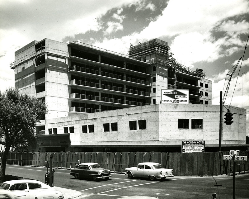 During construction, 1956
