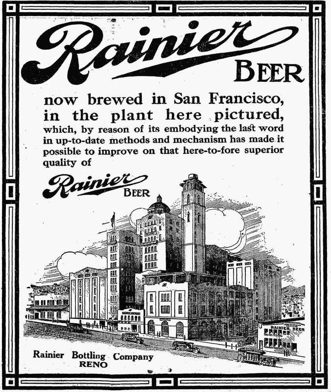 Rainier Beer ad, 1916