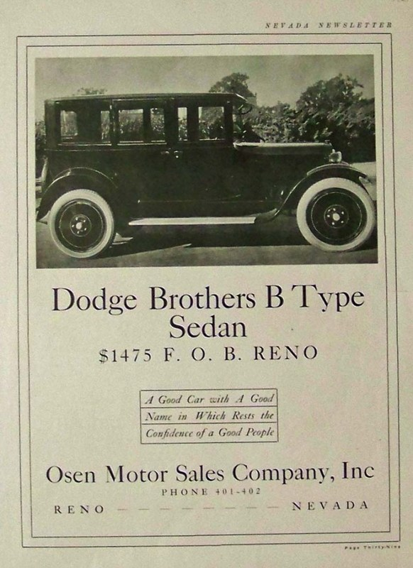 Dodge Brothers B Type Sedan, 1924