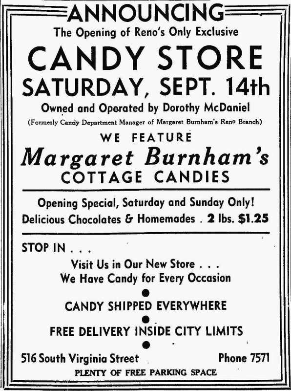 Candy store, 1940
