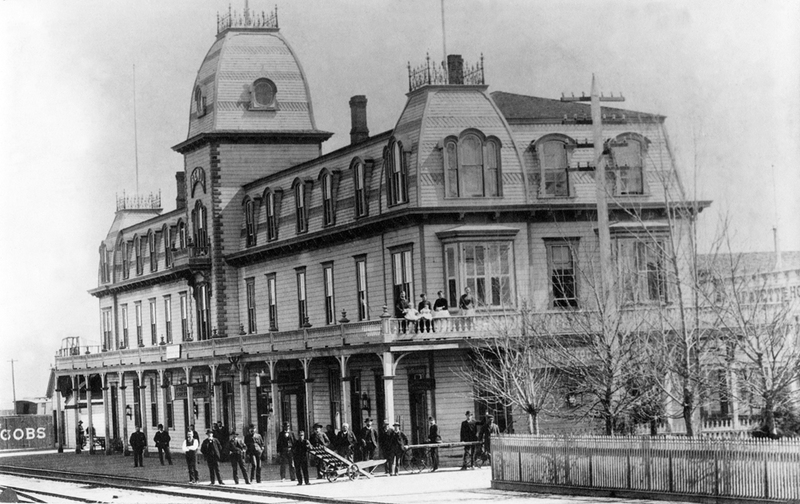 Depot Hotel, ca. 1880