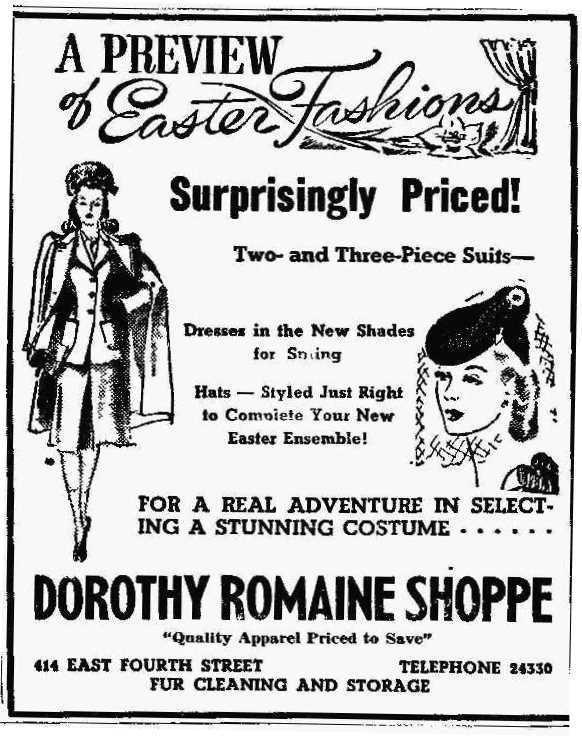 Dress shop, 1941