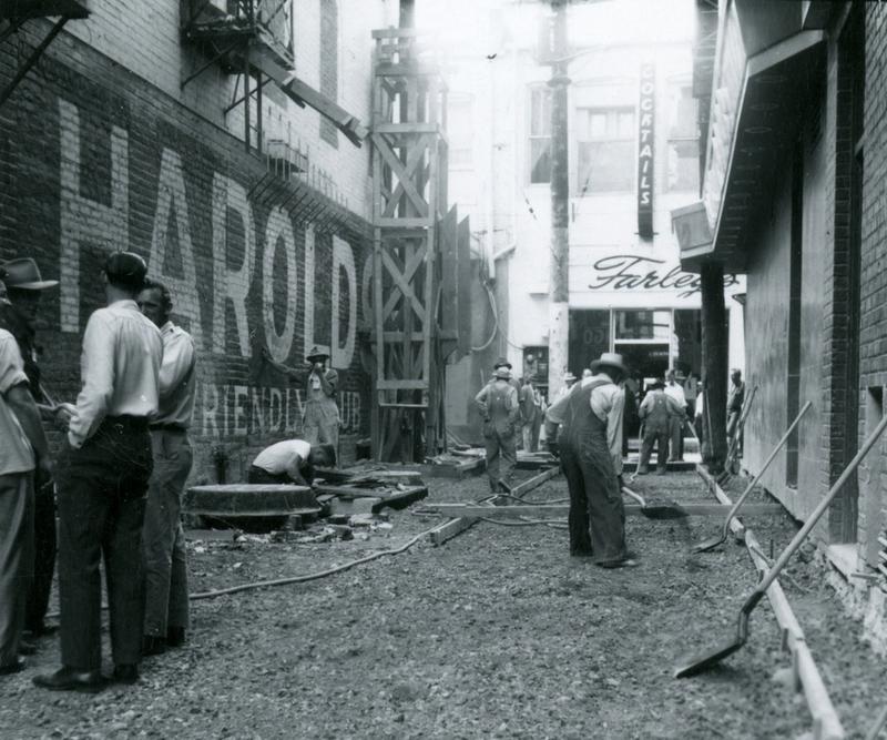Laying terrazzo, 1949
