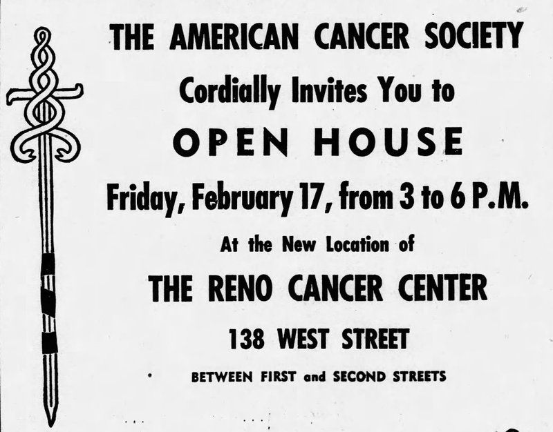 Reno Cancer Center, 1950