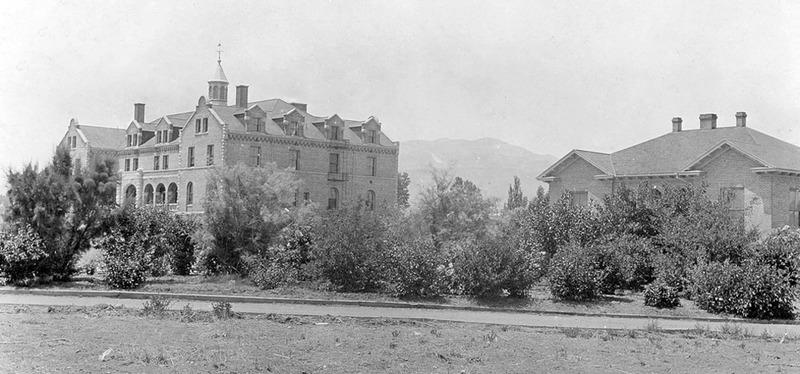 Near the hospital building, 1912