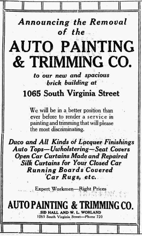 Auto Painting & Trimming, 1927