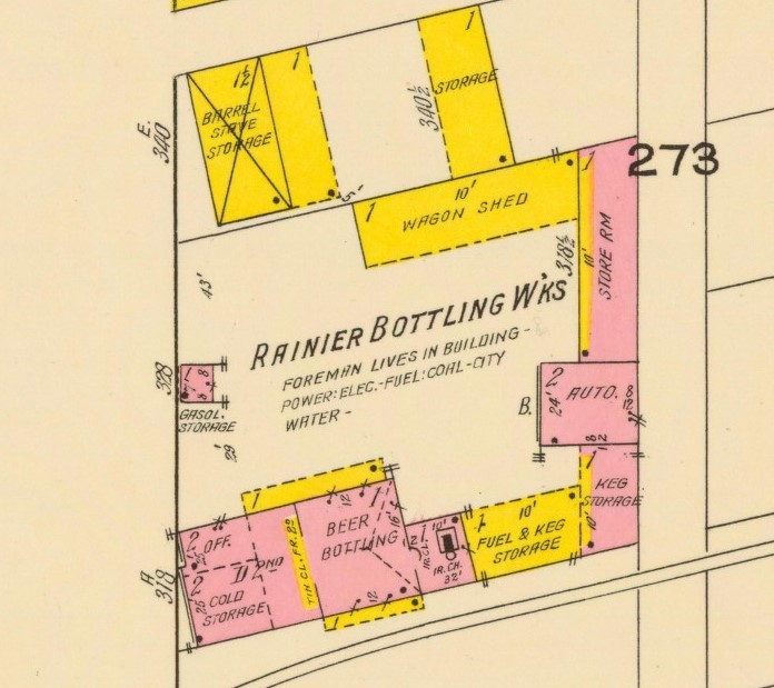Bottling Works layout, 1918