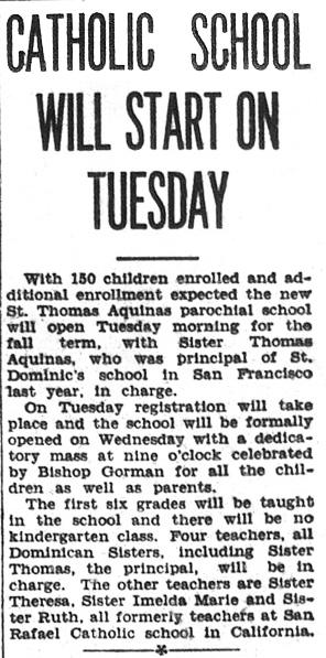 School opening, 1931