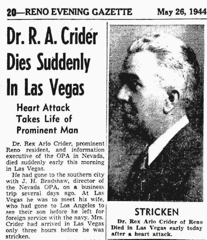Rex Arlo Crider obituary