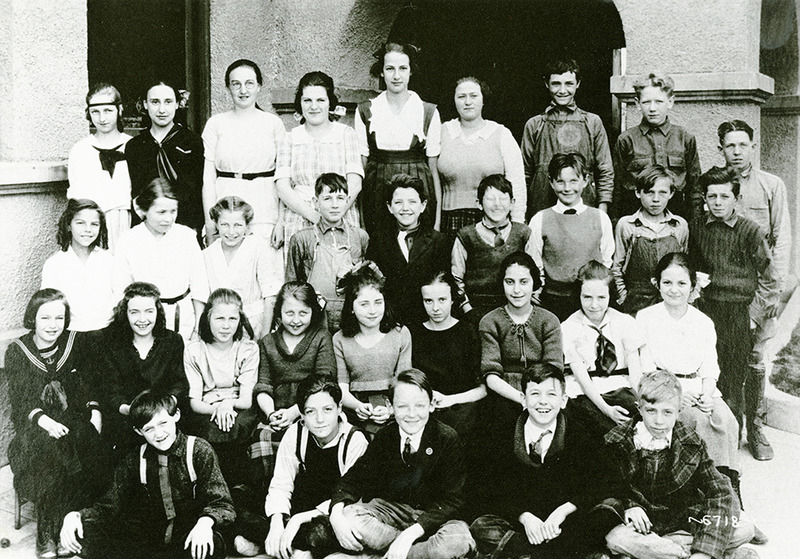 Seventh graders, ca. 1921