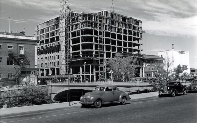 Construction of the Mapes began in January 1946