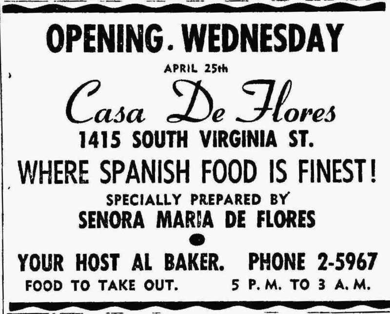 Casa de Flores, 1956