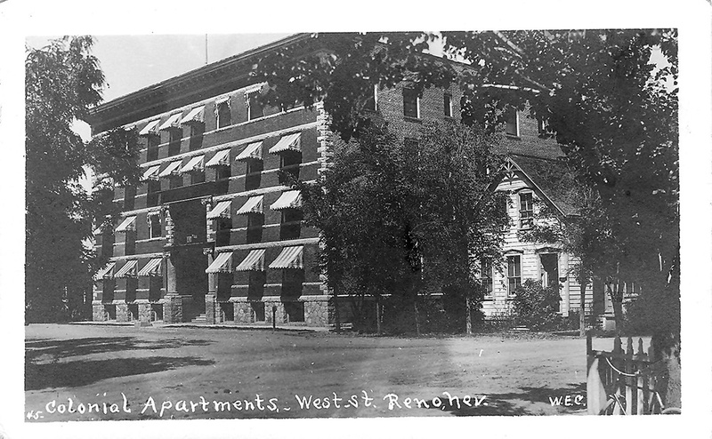 Early days of the Colonial Apartments