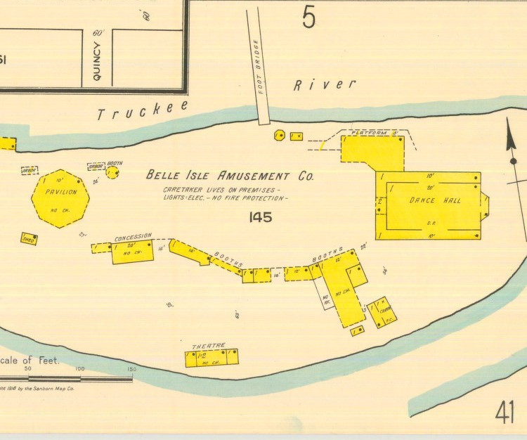 Belle Isle map, 1918