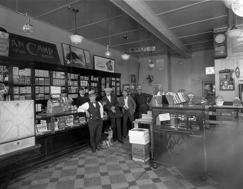 The Riverside Hotel's cigar store