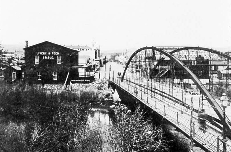 The iron bridge on Virginia Street
