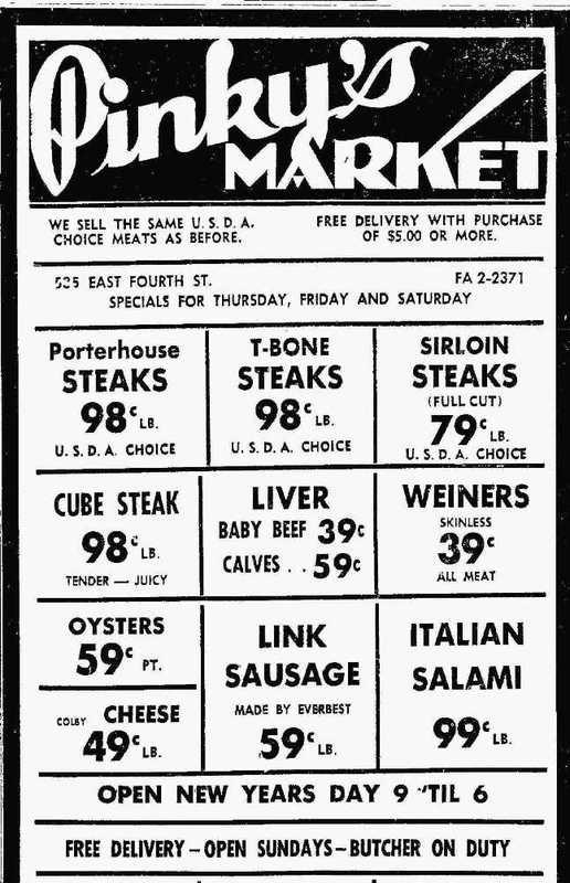 Butcher's specials, 1963