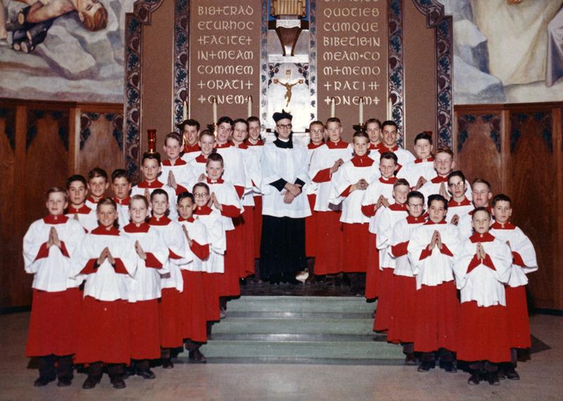 Altar boys in 1962