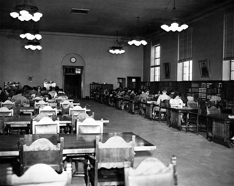 Studious scholars, ca. 1948