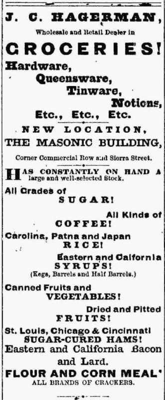 Hagerman's ad, 1874