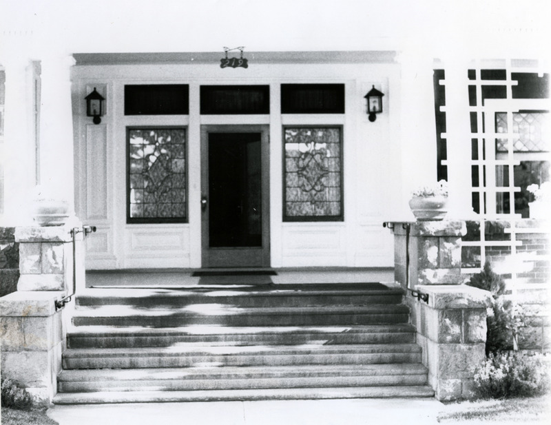 Front entrance, 1977