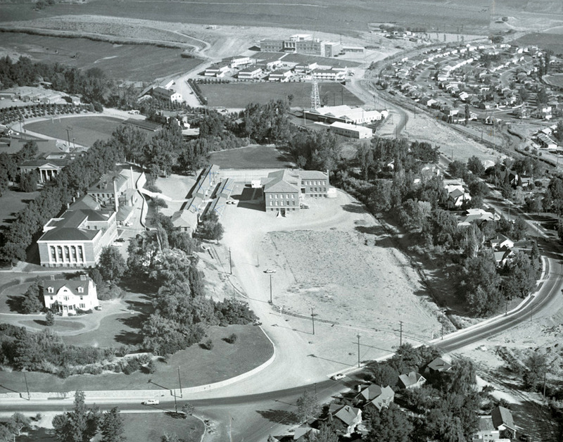 Palmer Engineering from the air, ca. 1950