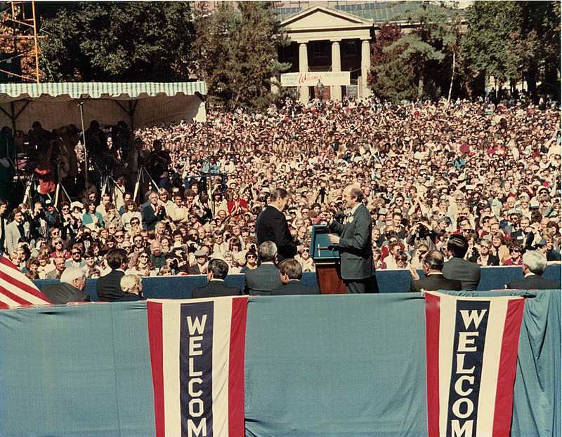 President Reagan visits in 1982