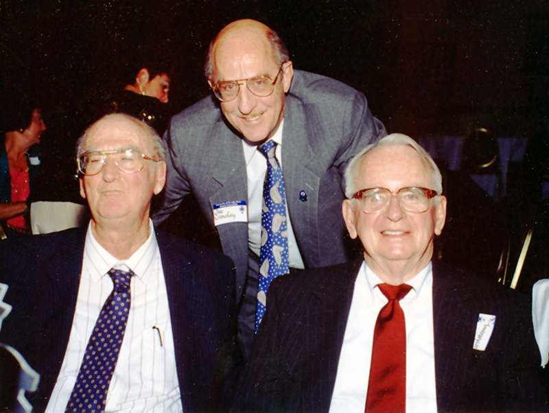 Ray Armstrong (right), Alumnus of the Year, 1992