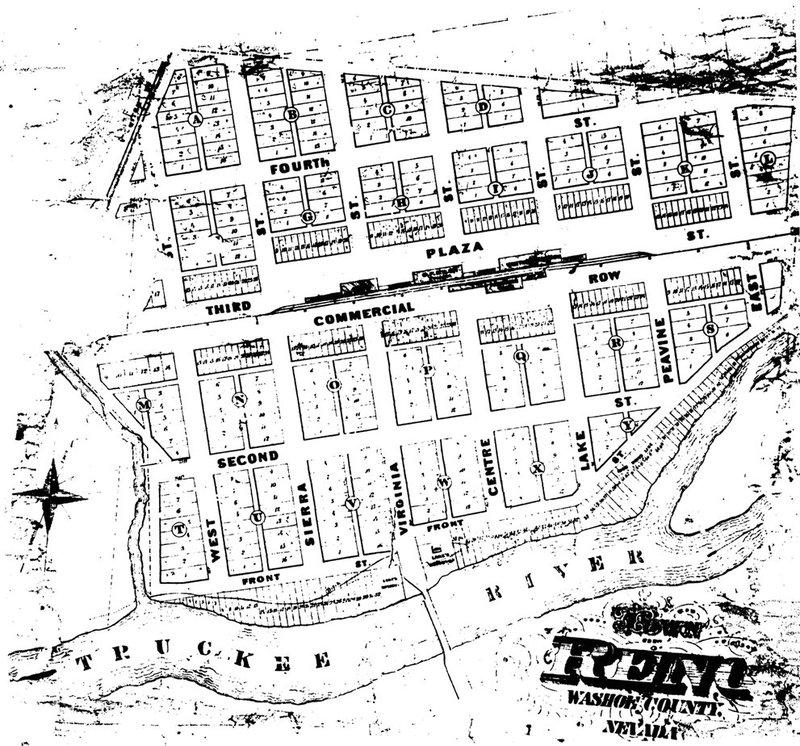 Original Reno town site, 1868