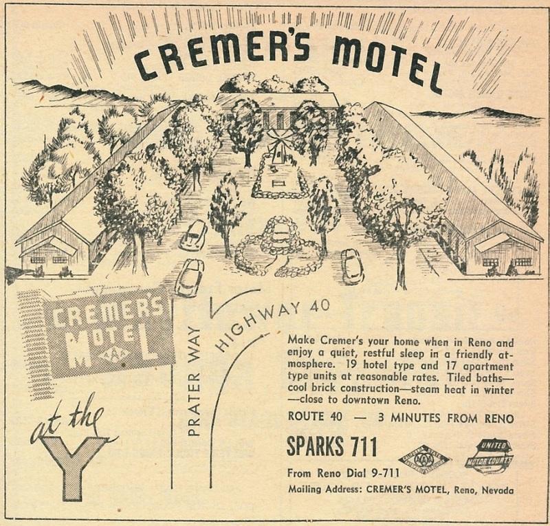 Cremer's Motel, 1950