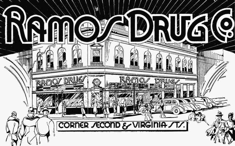 Ramos Drug Store, 1935
