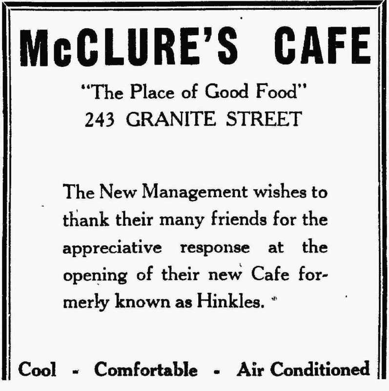 McClure's Cafe, 1945