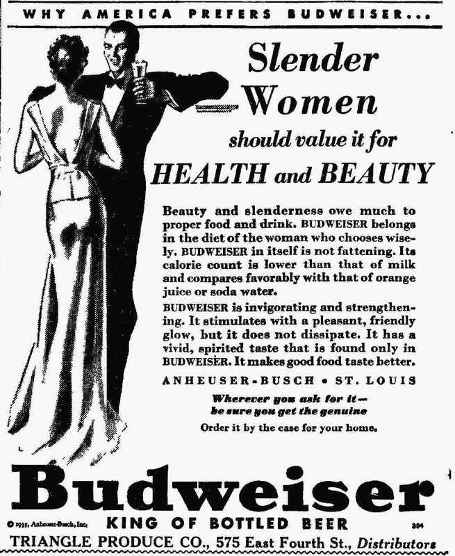 Budweiser distributor, 1935