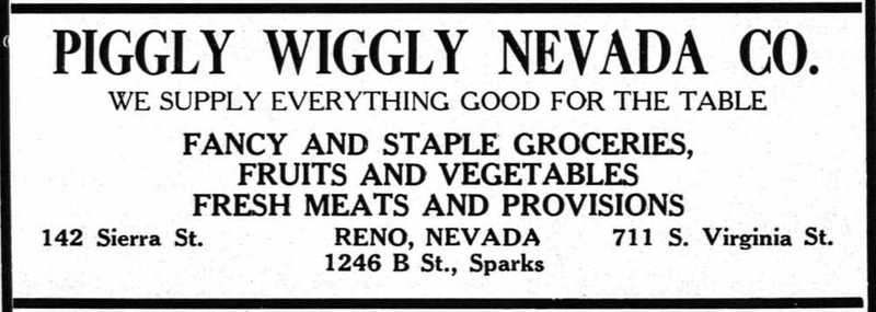 Piggly Wiggly ad, 1927