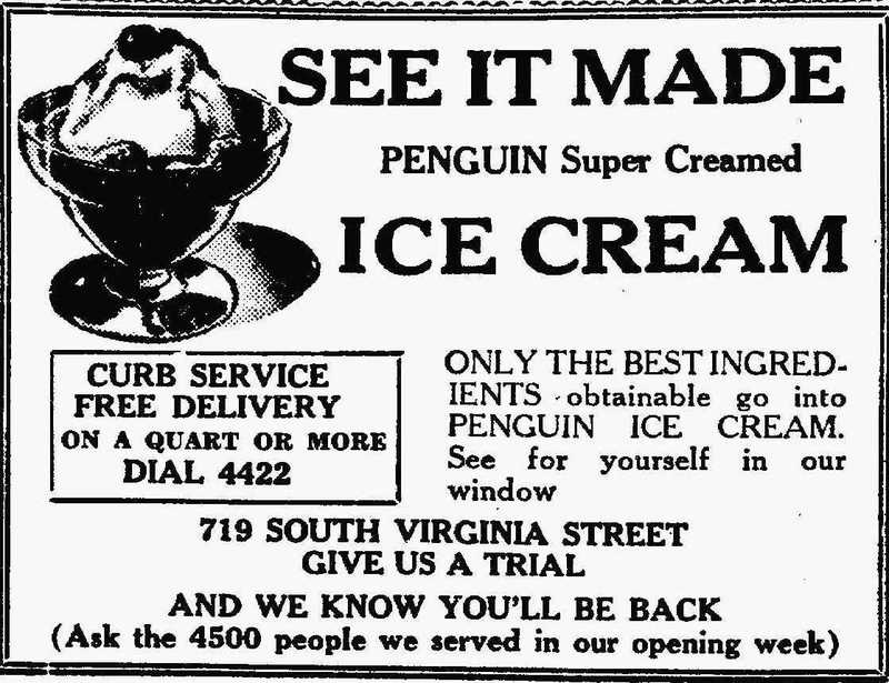 Penguin Ice Cream ad, 1935
