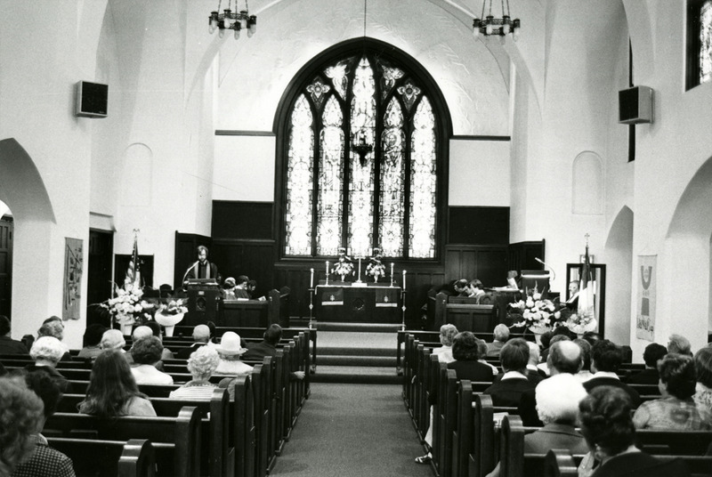 Holy Family Window in June 1974