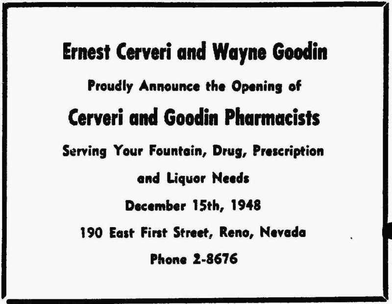 Cerveri & Goodin's, 1948