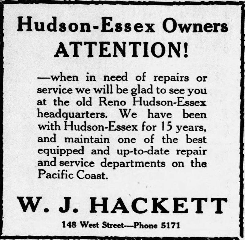 W.J. Hackett, Inc. ad, 1930