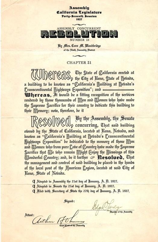 California State Resolution