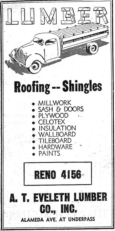 Eveleth Lumber ad, 1950