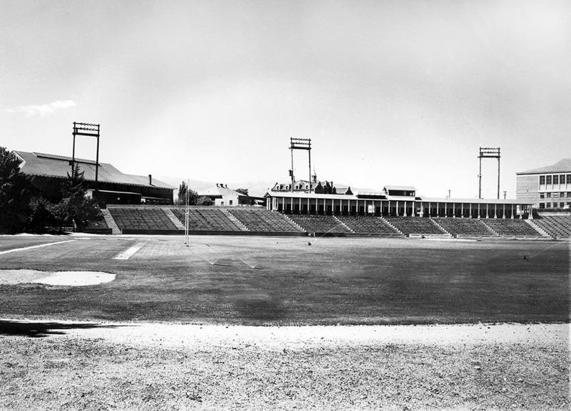 Empty stadium, 1960s