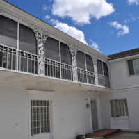 An elaborate balcony